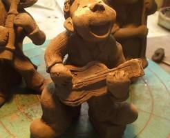 陶人形 ジャズミュージシャン